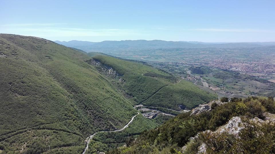 vista dalla cima del monte di Pale